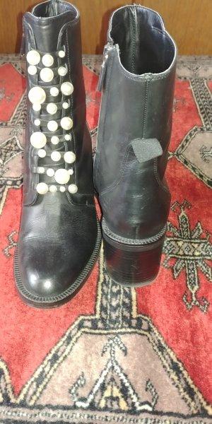 Zara Bottillons noir cuir