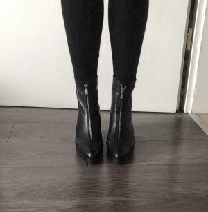 Zara Heel Boots black-silver-colored