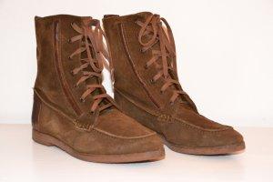 ZARA Boots Stiefel Hippie Boho Wildleder 40