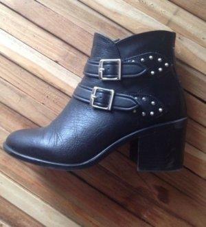Zara Chelsea Boot noir-argenté cuir