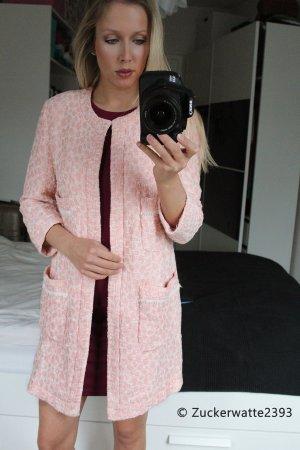 Zara Boucle Mantel Pink Rosa 34/XS
