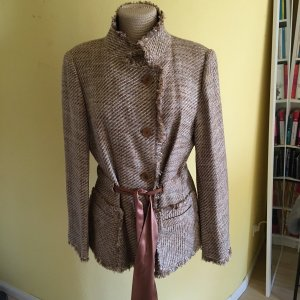 Zara Bouclee Tweed Blazer Gr 46 top