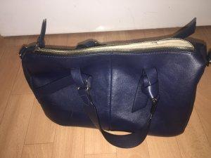Zara Bowl Tasche dunkelblau neuwertig