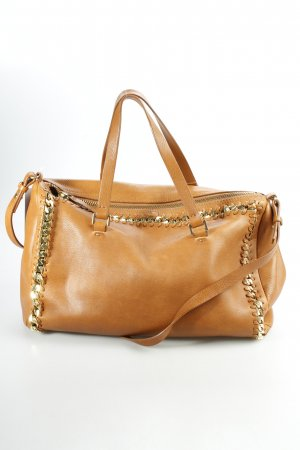 Zara Bowlingtasche camel-goldfarben Street-Fashion-Look