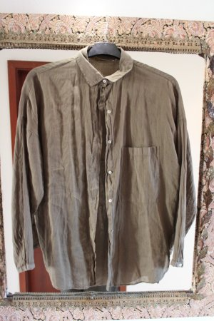 Zara Boyfriend-Hemd in grau-braun