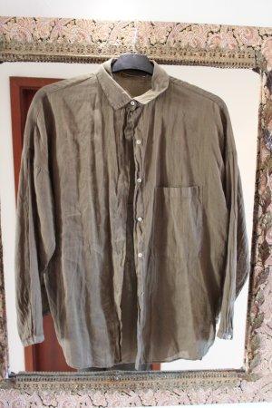 Zara Boyfriend-Hemd in khaki