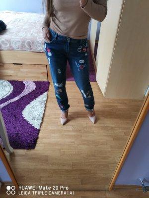 Zara Trafaluc Boyfriend Jeans blue