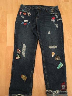 Zara Boyfriend Jeans mit Patches, Zara Jeans mit patches