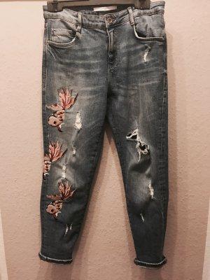 Zara Trafaluc Boyfriend jeans staalblauw-korenblauw