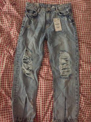 Zara boyfriend ripped jeans
