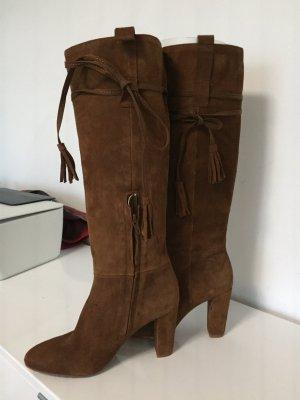 Zara braune Wildleder stiefel