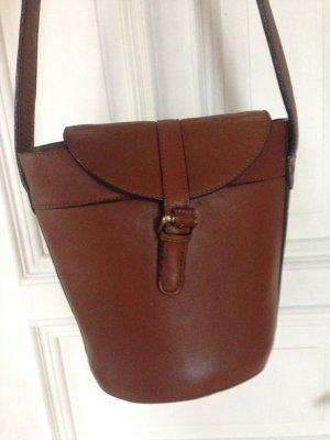 Zara Crossbody bag brown-cognac-coloured imitation leather
