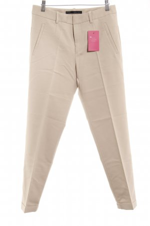Zara Bundfaltenhose beige Business-Look