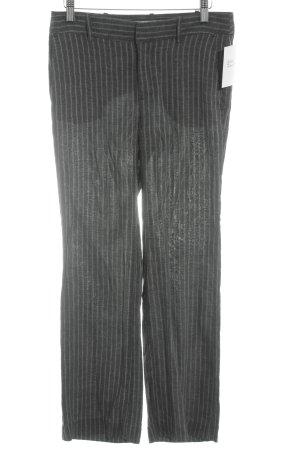 Zara Bundfaltenhose grau-weiß Streifenmuster Business-Look