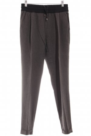 Zara Bundfaltenhose graubraun-schwarz Casual-Look