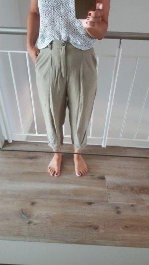 Zara Pantalon à pinces kaki