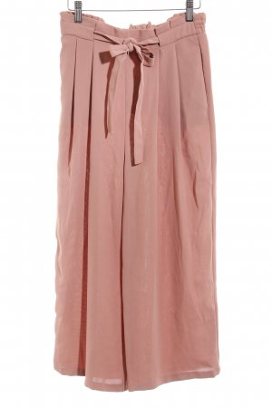 Zara Pantalon à pinces or rose Motif de tissage style décontracté