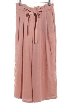 Zara Bundfaltenhose roségoldfarben Webmuster Casual-Look