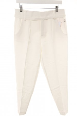 Zara Pleated Trousers natural white weave pattern casual look