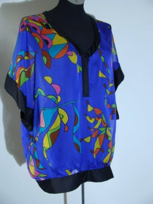Zara Woman Kimono Blouse multicolored synthetic