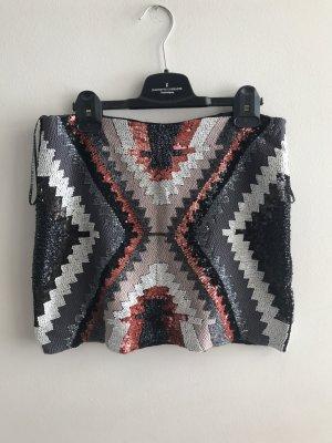 Zara bunter Paillettenrock
