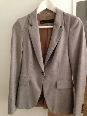 Zara Business Blazer in grau-beige, Größe XS