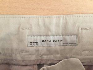 Zara Pantalon en jersey beige clair-crème tissu mixte