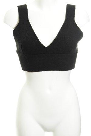 Zara Top tipo bustier negro look Street-Style