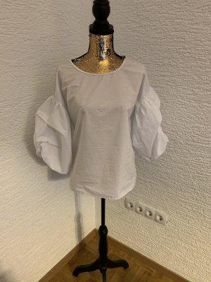 Zara Blouse Carmen blanc