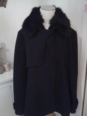Zara Abrigo corto negro-azul oscuro
