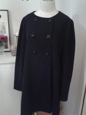 Zara Manteau noir-bleu foncé