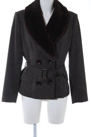 Zara Vareuse taupe-noir moucheté style d'affaires
