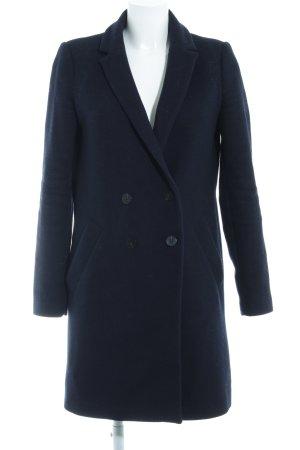 Zara Cappotto stile pilota blu scuro-nero stile professionale