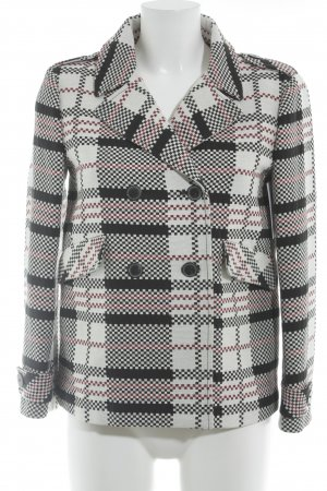 Zara Cabanmantel grafisches Muster Casual-Look