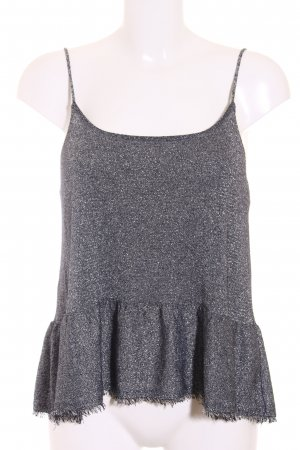 Zara Camisole silberfarben Metallic-Optik