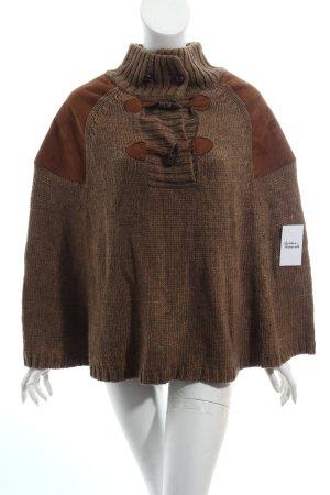 Zara Cape gris brun-brun molletonné
