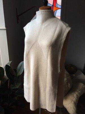 Mango Suit Poncho in maglia bianco sporco Tessuto misto