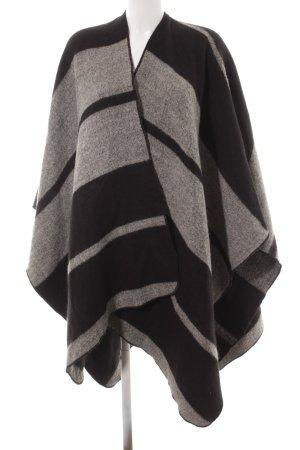Zara Capa negro-gris estampado con diseño abstracto look Street-Style