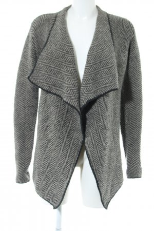 Zara Cardigan weiß-schwarz Allover-Druck Elegant