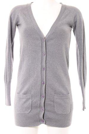 Zara Cardigan grigio chiaro puntinato stile casual