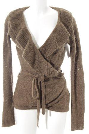 Zara Cardigan brun style décontracté