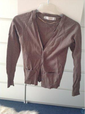 Zara Veste en tricot brun