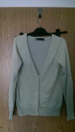 Zara Cardigan gris-vert menthe
