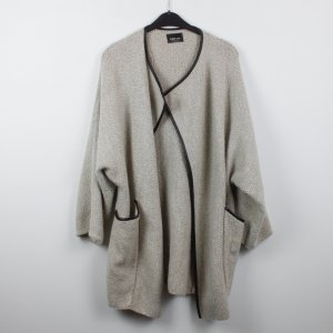 Zara Knit Cardigan oatmeal-black mixture fibre