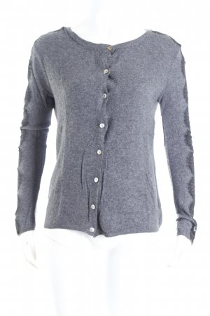 Zara Cardigan grau-schwarz meliert Business-Look