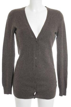 Zara Cardigan gris brun style décontracté