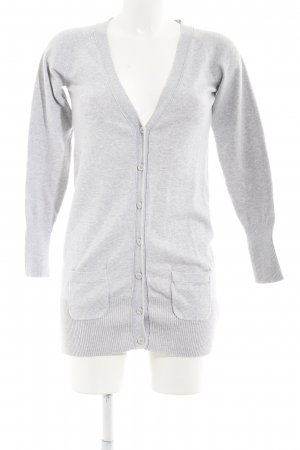 Zara Cardigan gris clair style décontracté
