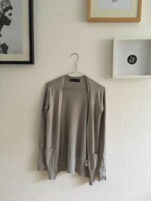 Zara Cardigan in grau-beige