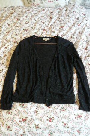 Zara Veste en tricot gris anthracite