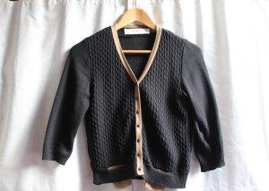 Zara Cardigan tricotés noir-beige